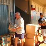 Collecting books from Waiau Elementry